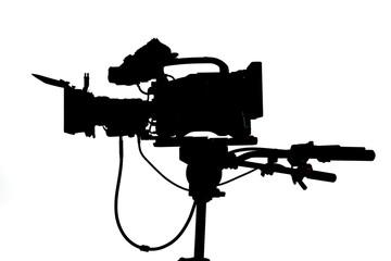 Pro video Studio Camera Side silhouette