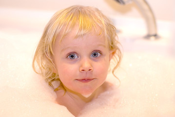 girl in bath