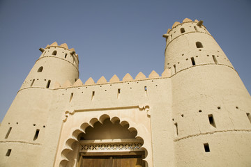 al ain, uae, front entrance of al jahli fort in al ain