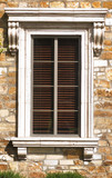 Beautiful Tuscan style exterior window framce poster