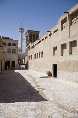 uae, dubai, the bastakia mosque in the old bastakia quarter of bur dubai