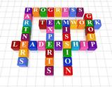 crossword 21 - leadership poster
