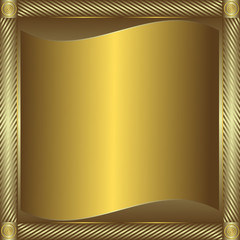 Silvery and golden  frame with  place for the text