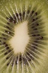 Close-Up View Of Sliced Kiwi Fruit
