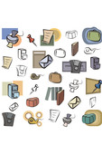 Fresh Icons - Office Supplies and Stationery poster
