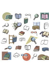 Fresh Icons - Books, Reading, Studying