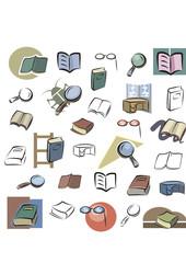 Fresh Icons - Books, Reading, Studying