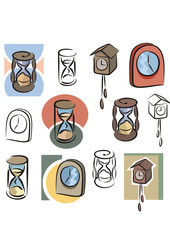 Fresh Icons - Clocks and Hourglasses