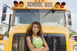 Teenager Girl by School Bus