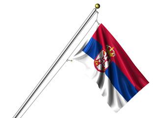 Isolated Serbian Flag