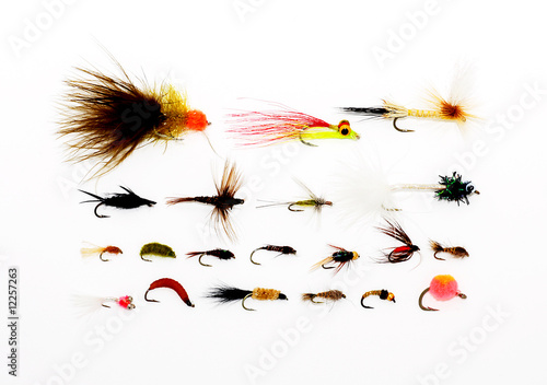 Tuinposter Vissen Flies for fly fishing