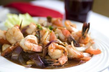 camaron saltado shrimp peruvian peru food latin america