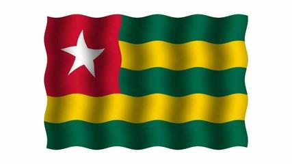 3D-animierte Flaggen im Wind: Togo