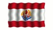 3D-animierte Flaggen im Wind: Französisch-Polynesien