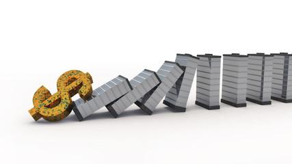 falling dollar to destroy real estate market