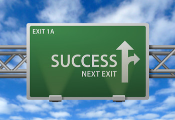 Highway Signpost - Success Next Exit