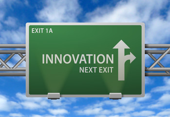 Highway Signpost - Innovation Next Exit