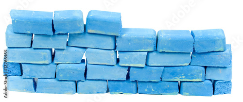 Wall from blue chalk