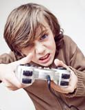 jeux vidéo dépendance génération console manette enfant poster