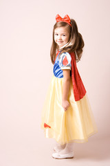 little girl in snow white costume