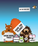 Save the environment uk wildlife poster