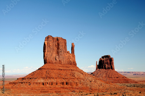 Foto op Canvas Baksteen East and West Mittens of the Monument Valley