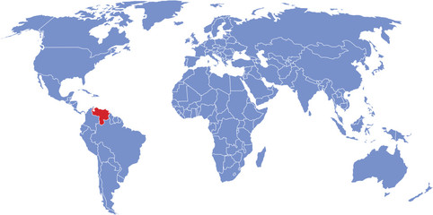 There is a global map of the world