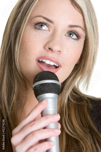 Blond Girl Singing