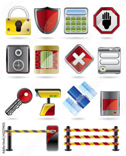 Security and Business icon set