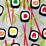 Fototapety Seamless background sushi
