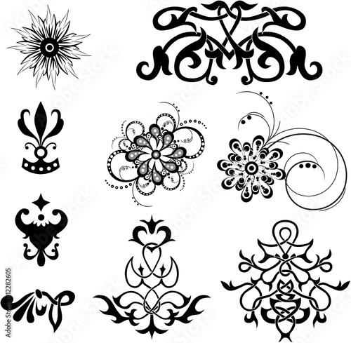 swirl tattoo designs. for design, vector tattoo