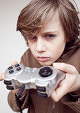 jeu video console manette enfant joystick dépendance enfant poster