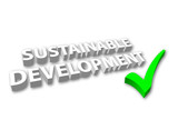 Sustainable Development (3D - with Tick) poster