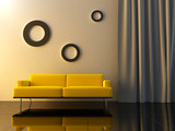 Interior - Yello couch