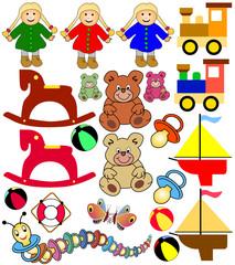 sammlung von kinderspielzeug