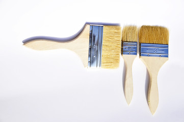paintbrushes on white