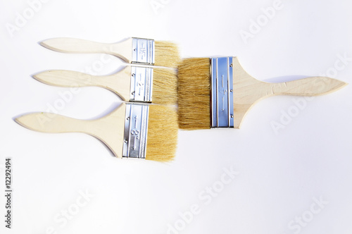 paintbrushes on white