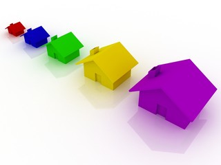 Houses of different color