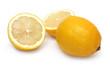 sliced and whole lemons