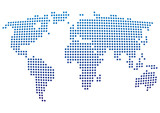 Fototapety Vector,world map in circles