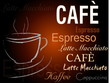 canvas print picture - Cafe Schild Espresso