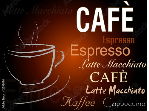 canvas print picture Cafe Schild Espresso