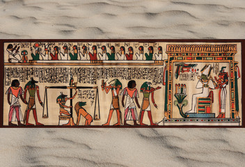 cartouche de scène égyptienne