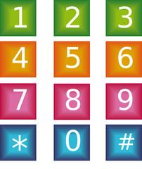 chiffres en couleurs