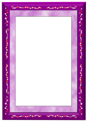 Purple Frame with marble border and buttons detail