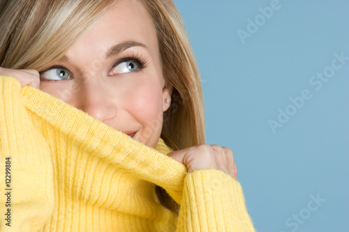 Playful Sweater Girl