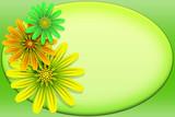 Fiori Cornice-Fleurs carte-Flowers frame poster
