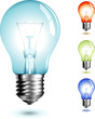 realistic illustration of a lightbulb