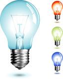 realistic illustration of a lightbulb poster