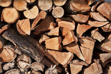 Stack Of Firewood Logs poster